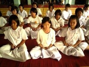 méditation dans les classes